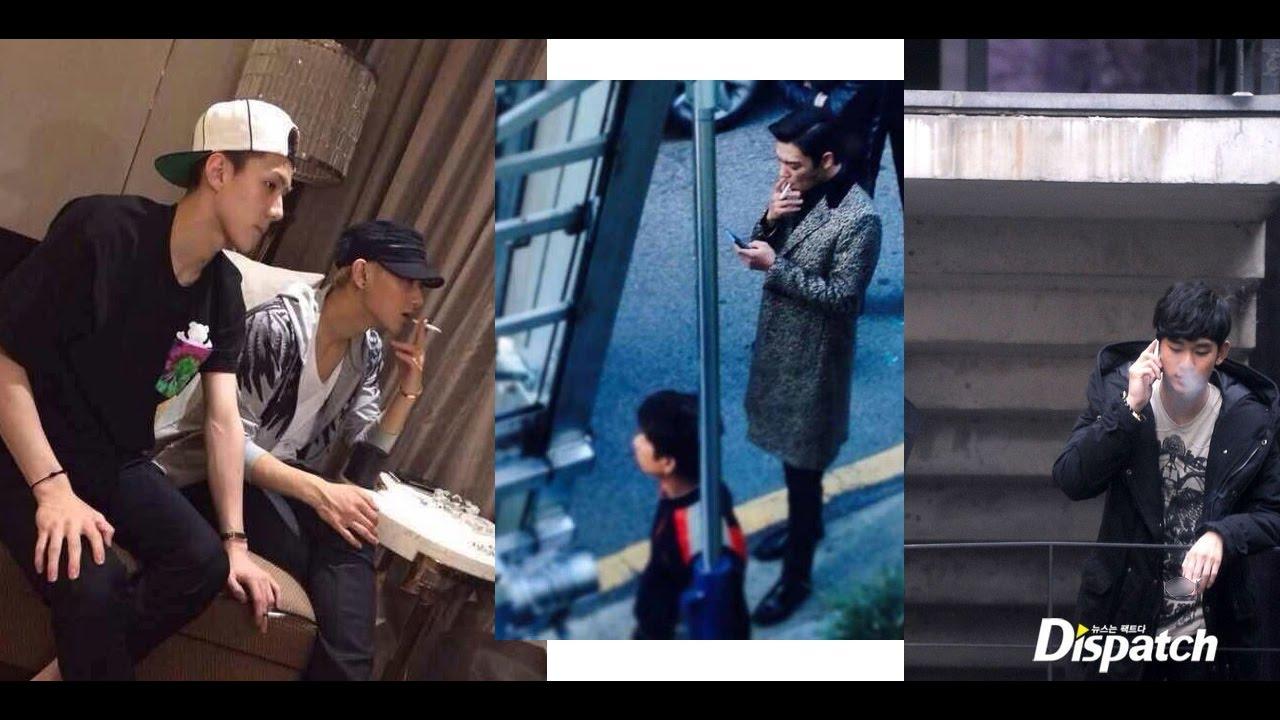 idol kpop and korean celebrity who is smoking