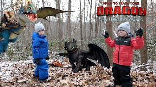 How to Train Your Dragon 3: The Hidden World Rescue and Save Toothless - Chase and Cole Adventures