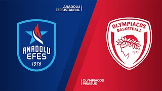 Anadolu Efes Istanbul - Olympiacos Piraeus Highlights | Turkish Airlines EuroLeague, RS Round 25