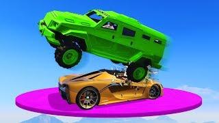SMASH THE CRAZY DERBY TRUCKS! (GTA 5 Funny Moments)
