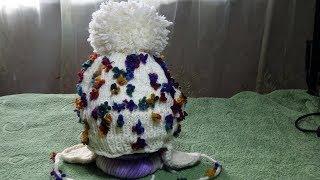 Зимняя шапочка на девочку. Вязание спицами