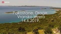 Pakoštane, Drage, Vransko jezero HD okretna kamera - 14.6.2019.