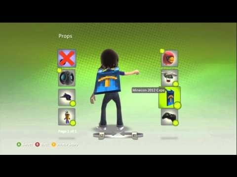 MineCon 2012 Cape Xbox 360 Avatar Prop