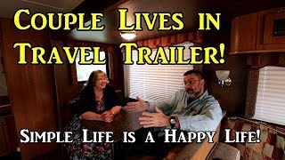 Living in a 32ft Travel Trailer - Interview w/ Tiny House Prepper