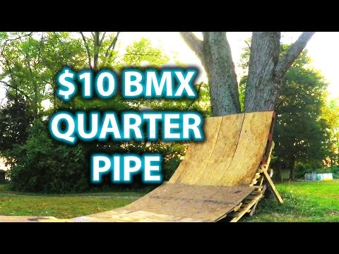 $10 BMX Quarterpipe in 4K