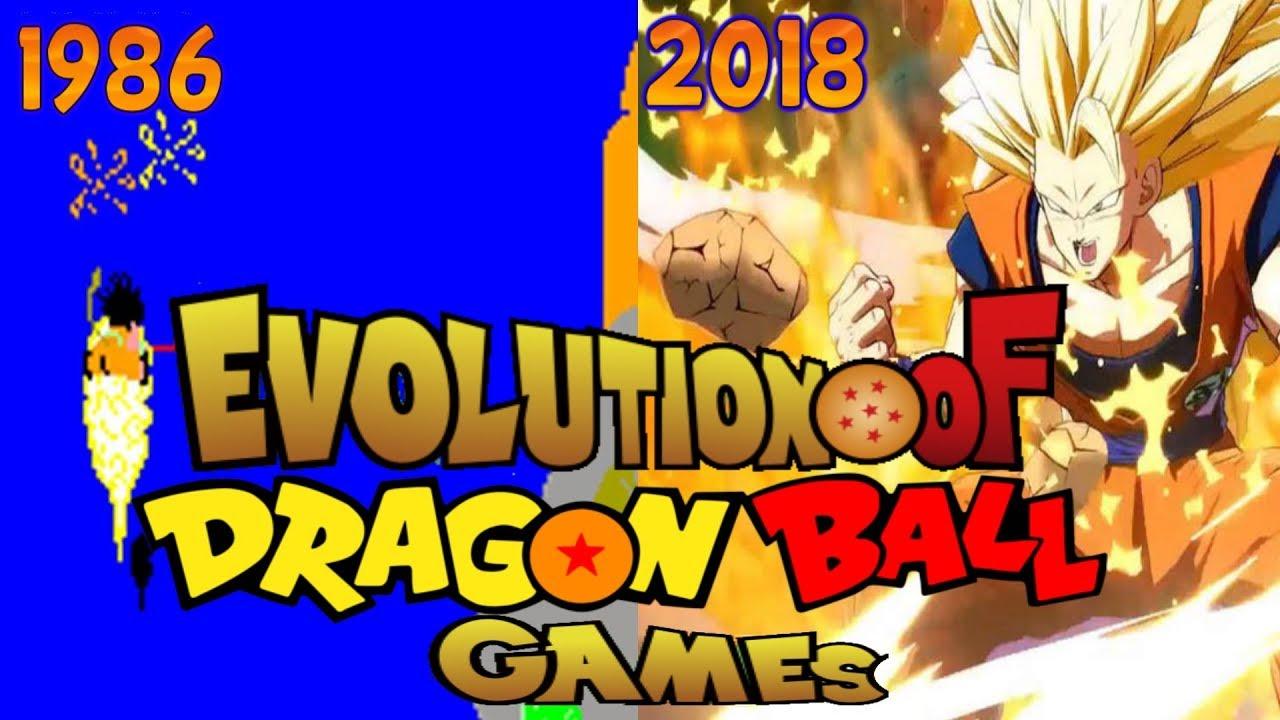 Graphical Evolution of Dragon Ball Games (1986-2018)