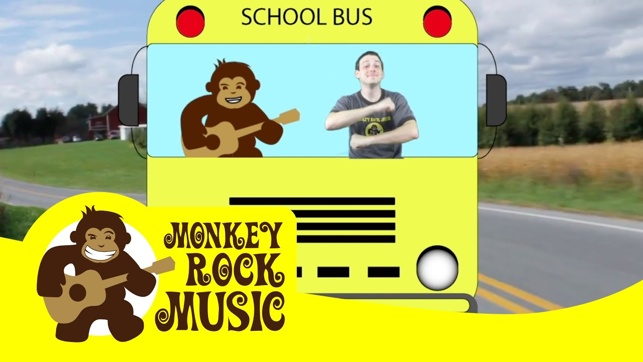 Wheels On The Bus Monkey Rock Music Kids Dance Songs Nursery Rhymes Youtube