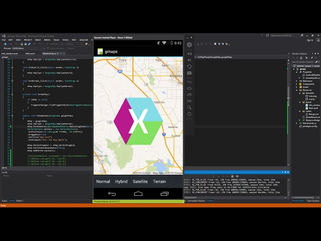 Xamarin Android Tutorial - 44 - Google Maps - Drawing