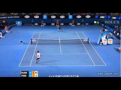 Andy Murray beats Roger Federer Final Winning Set(6-2) Australia Open 2013 Semifinals - YouTube