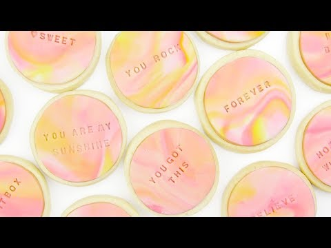 Marbled Sugar Cookies Tutorial