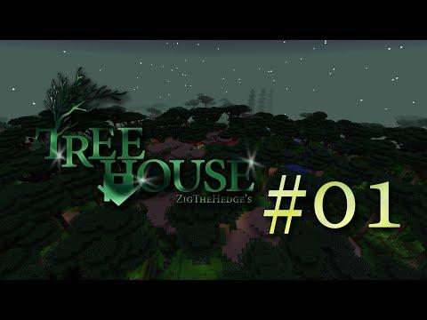 🏕 [Майнкрафт 1.12.2 с модами] TreeHouse - Первое дерево - EP1