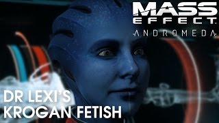 Mass Effect Andromeda: Dr Lexi's crush on Drack (and Krogan interest)