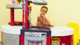 Кухня игрушечная с приборами. Детская кухня. Kids Toy Kitchen - Review and Pretend Cooking(Распаковка игрушечной кухни c духовкой, раковиной, посудомойкой и плитой! Игрушечная кухня с приборами...., 2016-11-08T19:27:32.000Z)
