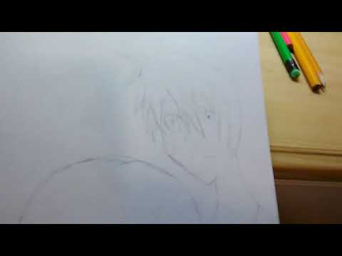 Request Drawing: Sword Art Online Basic Kirito Sketch and Yui (i think) Started