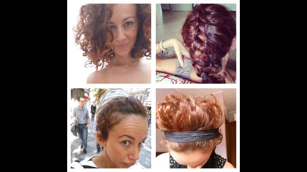 """Molto pettinature per i capelli ricci (ed esperimenti con """"la lacca  AY61"""