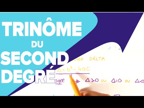 Équation du Second Degré - Résoudre un Trinôme du Second ...