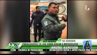 San Isidro: denunciarán a fiscalizadores por golpear a motociclista