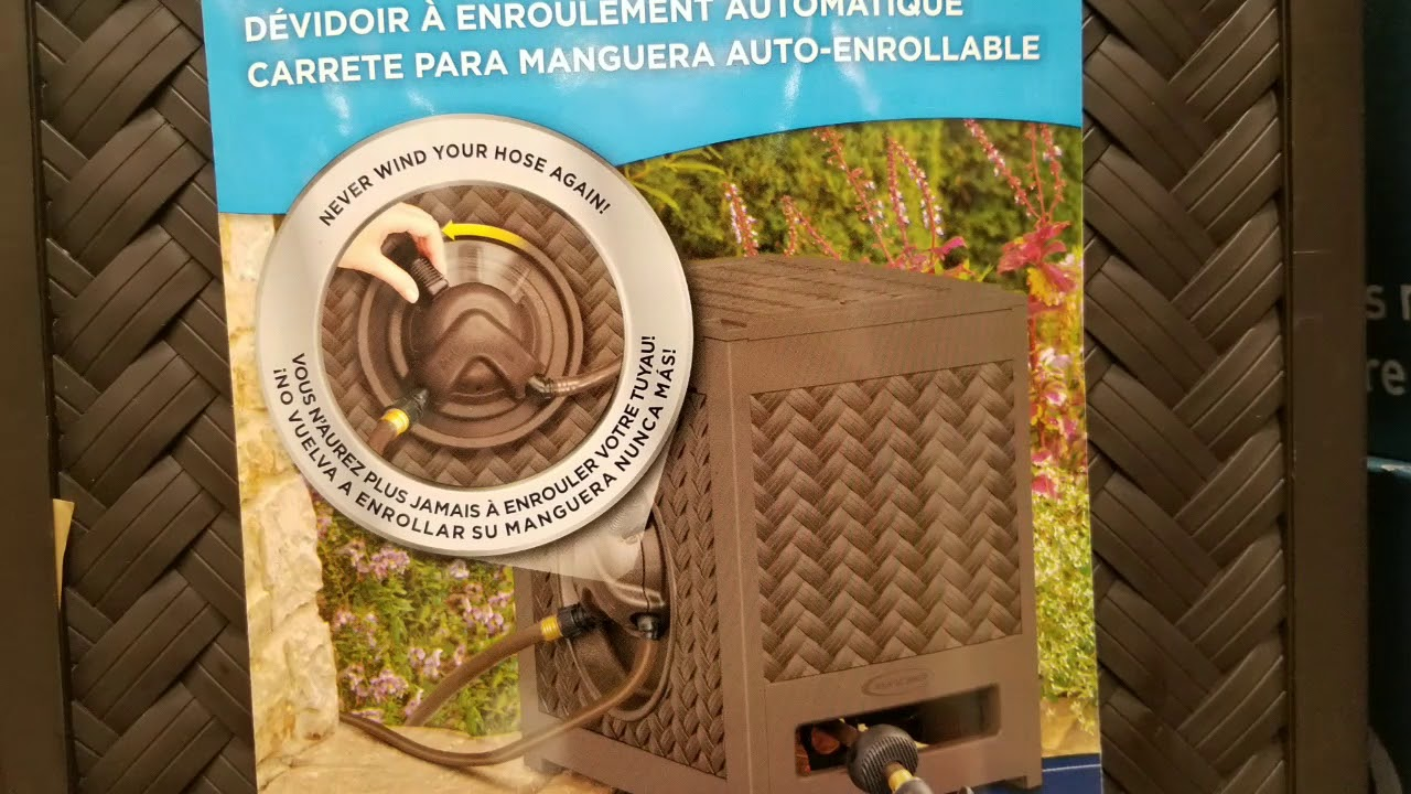 Costco! Suncast Aquawinder (hydro powered hose reel) for $69! - YouTube