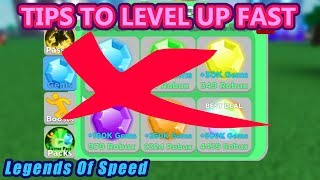 How To Level Up Faster & Become Rich | Roblox Legends Of Speed