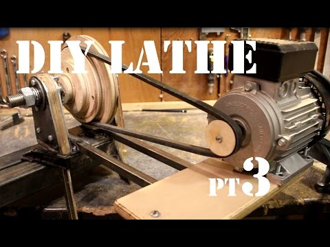 How to Make a Wood Lathe From Scratch - Motor and Tailstock