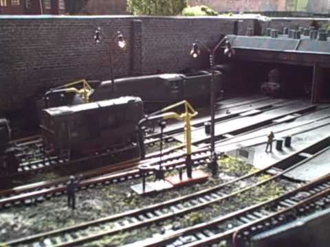 00 gauge model railway loco shed scenes.Please watch more videos of Amberton on sea.