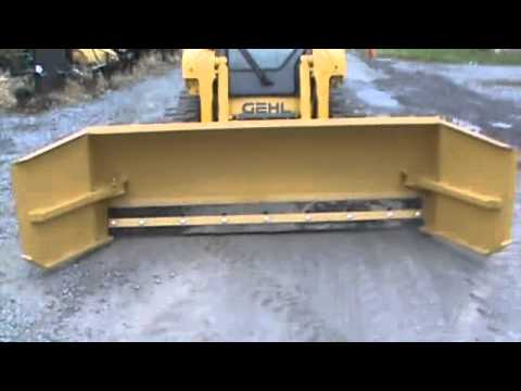 New 8 To 10 Adjustable Snow Pusher Box Plow For Bobcat