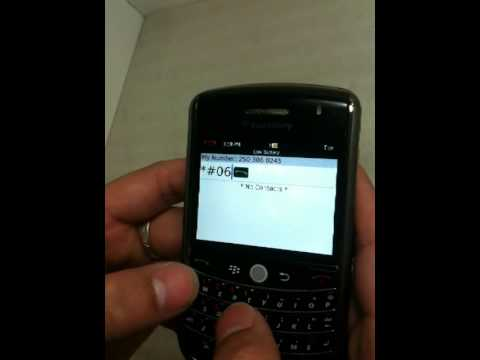 how to get an imei number from a blackberry