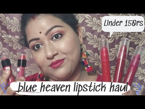 Blue haven lipstick haul under 150rs || beauty with brain