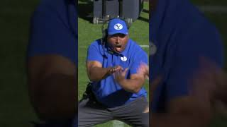 BYU coach's reaction to this TD is PRICELESS   #Shorts