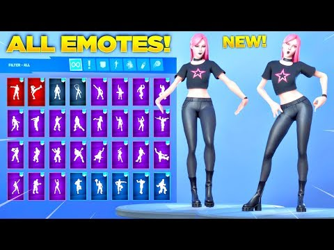 *NEW* HAZE SKIN Showcase with All Fortnite Dances & Emotes! (Fortnitemares Skin)