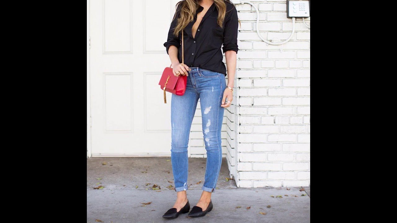 Outfits con jeans y flats