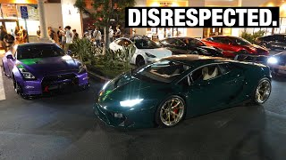 homepage tile video photo for Twin Turbo Lamborghini KICKED out of it's first Meet…