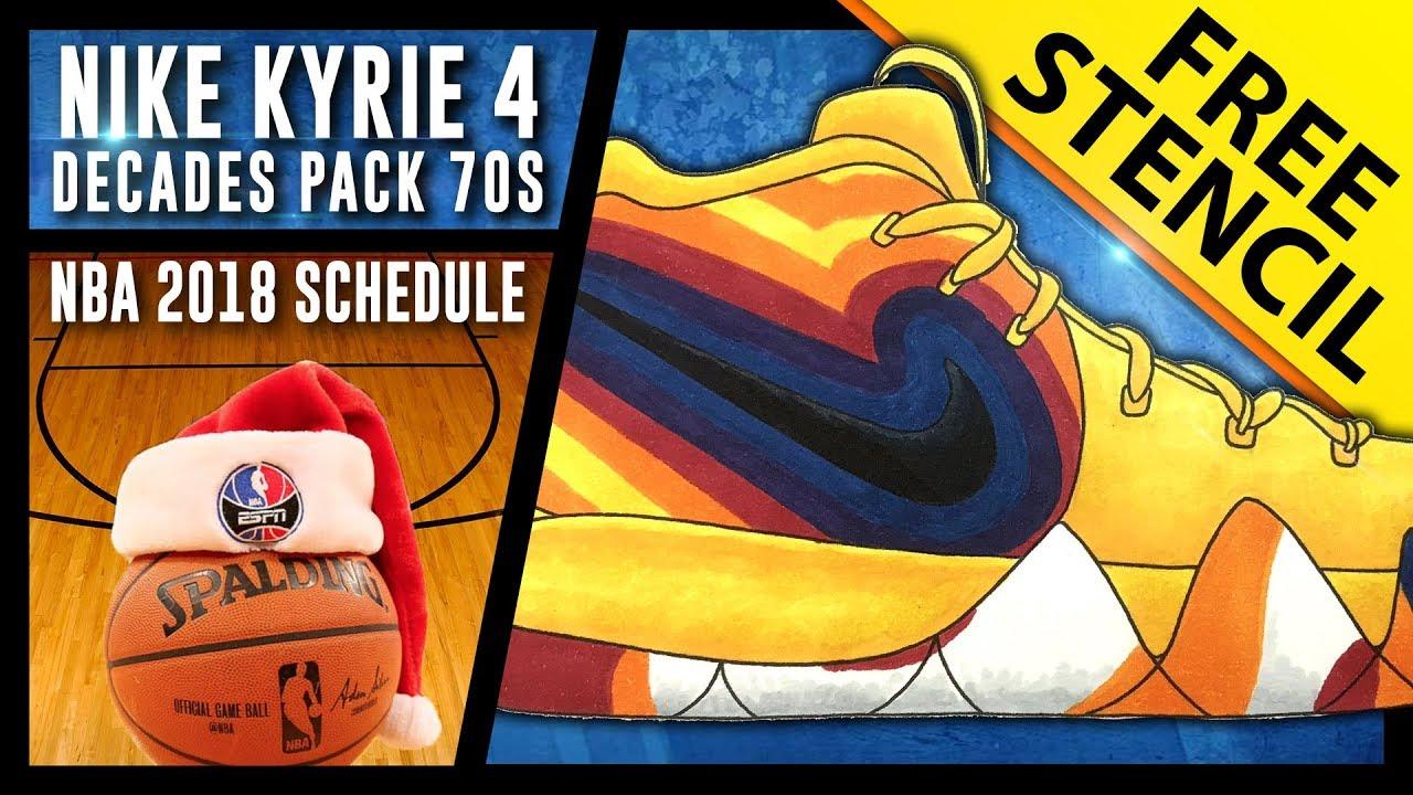 sale retailer 82b00 7eb2d Nike Kyrie 4 Decades Pack 70s - Sneaker Art w/ FREE stencil