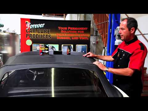 How To Restore Your Convertible Top With Forever BLACK™ Black-Top Gel
