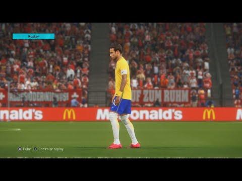 Brasil vs Suíça (Switzerland) - World Cup Russia 2018 -  PES 18 MODO LENDA