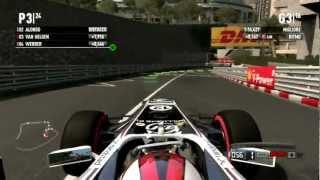 F1 2011 Gameplay Ita PC Gara#6 Gran Premio Monaco Montecarlo - Guerra A Quattro Ruote-