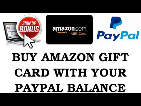 How to buy amazon gift card online with paypal