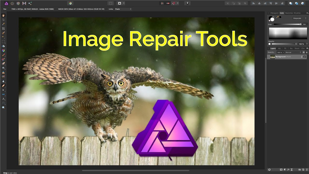 Affinity Photo Image Repair - Clone, Heal, Blemish, Patch