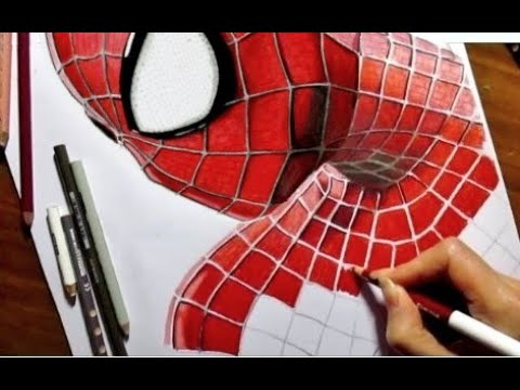 speed drawing of the amazing spiderman 2 jasmina susak