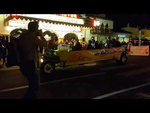 Christmas Parade 2017 Santa Barbara California.