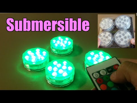 Battery Powered Submersible Lights LED Accent Lights by AomeTech