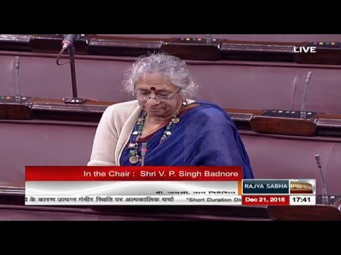 Smt. B Jayashree's comments on the situation arising due to floods and drought in the country