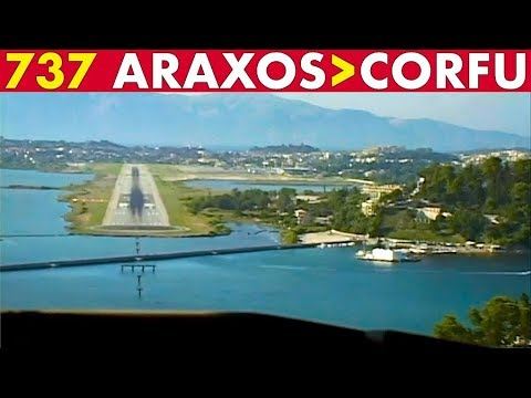 COCKPIT 737-800 Araxos to Corfu (2002)
