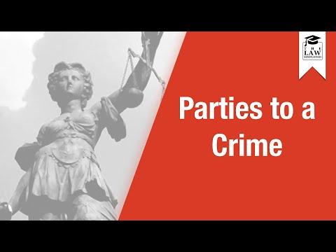 Criminal Law - Parties to a Crime