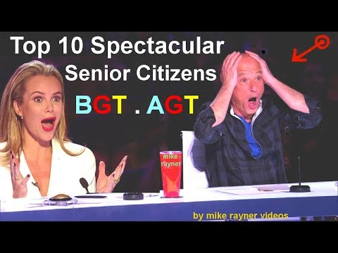 Top 10 Spectacular Senior Citizens on America's and Britain'