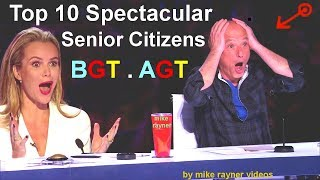 Top 10 Spectacular Senior Citizens on America's and Britain's Got Talent, Best AGT - BGT Auditions