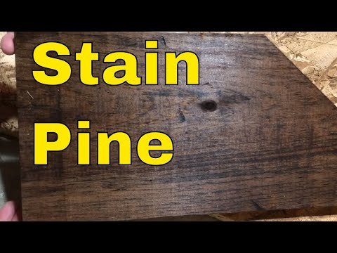 How To Stain Pine Wood-Tutorial