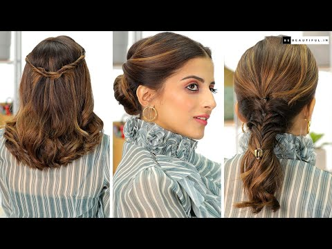 office-hairstyles-for-zoom-calls-|-quick-&-easy-hairstyles-for-work-|-knot-me-pretty-|-be-beautiful