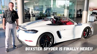 2020 718 Porsche Boxster Spyder Top Operation With Start Up!!