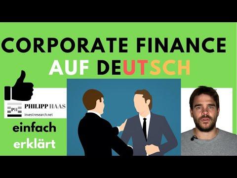 Corporate Finance - einfach auf deutsch erklärt